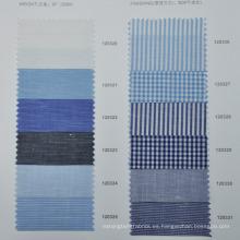 Tela de la camisa de lino de algodón a medida sin cantidad mínima de pedido último patrón de camisas para hombres