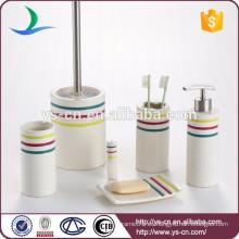 Set de regalo de baño de cerámica de 6 piezas de colección simple Essentials
