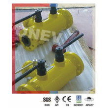 Wcb Body Flange End Double Disc and Block Ball Valve