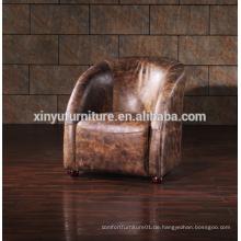 Land Stil Vintage Leder Lounge Chaise A626