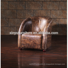 Chaise longue en cuir Vintage style style A626