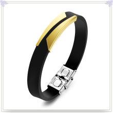Bracelet en caoutchouc Bracelet en silicone pour bijoux fantaisie (LB639)
