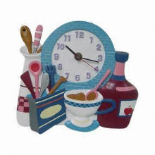 Polyresin Clock Crafts, Ideal Promotional and Gifts Purpose and Collection, OEM Orders Welcomed