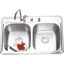 8456 De acero inoxidable de soldadura Bowl Sink