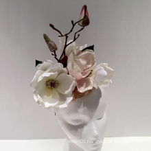 Pink Ivory Fascinator Tea Party Hat Day at the Races Derby For Ladies