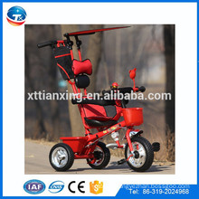 3 In 1 baby luxury walker tricycle in three wheels with roof canopy /baby bike tricycle for trike