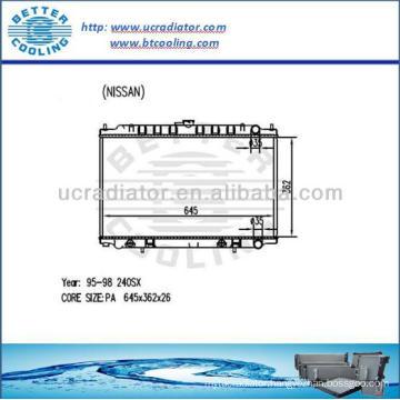 NISSAN 240SX Auto Aluminum Radiator Cooling System