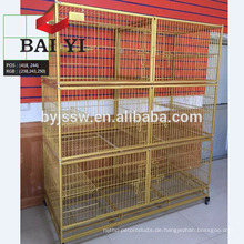 Meistverkaufte Katze Käfig, Katze Haustier Käfig mit Rädern für Verkauf