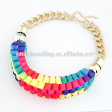 2015 Handcrafted temperament short fluorescent old fashioned necklaces
