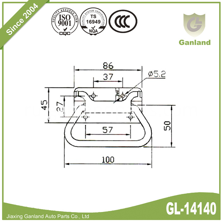Zinc Plated Chest Lock GL-14140-1
