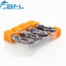 BFL-Spiralschneider aus Hartmetall 4 Flöten BallNose EndMills Cutter NaNo Coated