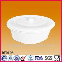 Fabrik direkt Großhandel weiße Porzellan Suppe Terrine