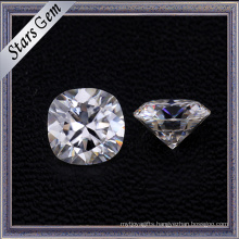 Wholesale Forever One Cushion Shape Diamond Cut Pure White Moissanite Stones for Ring