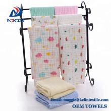 China Factory Custom Design Organic Cotton Soft Textile Muslin Baby Swaddle Blanket