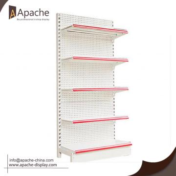 Supermarket Peg board Storage Shelf Display Stand