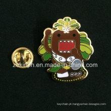 Imitação esmalte lapela emblemas com borboleta embreagem