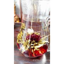 Deslumbrante Rosa E Roselle Floração Chá
