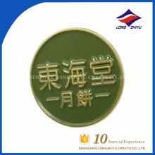 Logo de l'entreprise de souvenir de vente chaude ronde dernier badge d'émail