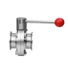 sanitary butterfly valve ferrule end butterfly valve