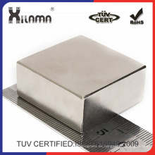 Imán de neodimio cuadrados grandes para componentes eléctricos e industriales