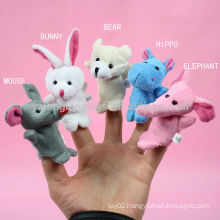 Kids role play game animal toy finger puppet
