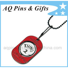 Black Nickel Dog Tag com cor esmalte