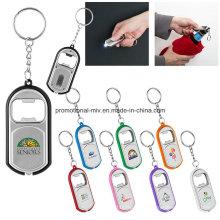 Keychains funcionais do abridor de garrafa com a lanterna elétrica do diodo emissor de luz para presentes relativos à promoção