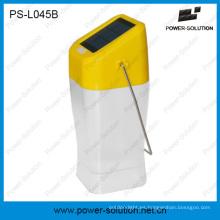 Linterna portátil al aire libre del panel solar del interior del color amarillo