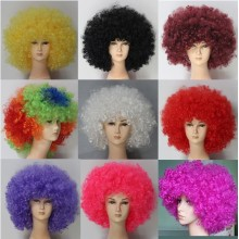 Ladies Santa Fashion Party Wig Synthetic Fibre Football Fan Wig