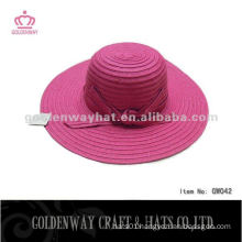 Ladies fashion paper hat GW042 summer beach hats new 2014 with ribbon
