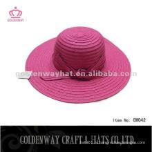 Женская мода бумажная шляпа GW042 летние пляжные шляпы новый 2014 с лентой