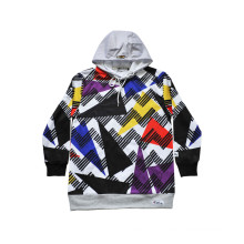 Warm Sports Wear Customized Fashion Hoodie with Colorful Pattern (H5013)