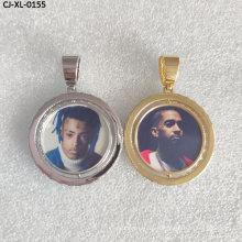 China Factory Hip Hop Custom Photo Pendant Necklace Diamond Zircon Necklace for Women and Men