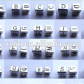 6*6mm charm alloy hole 3.5mm alphabet cube beads