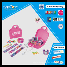 Diy Jewelry set toy for girl with pdq box bead wholesale