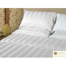 Tela 100% de la raya del satén del algodón / materia textil para el lecho del hotel