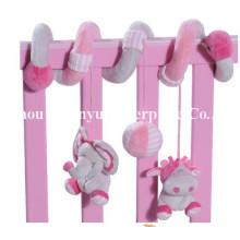 Fábrica de suministros de cama infantil de peluche de juguete en espiral