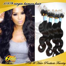 Extension de cheveux micro de boucle de cheveux de mongole non-traitée de la catégorie 100A de 100%