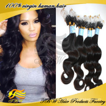 7A Grade 100% Unprocessed Mongolian Human Hair Micro Loop Hair Extension