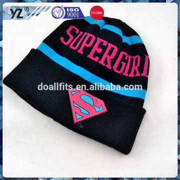 keep warm custom knitted hat for wholesale