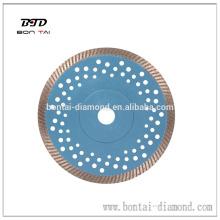 Disco de corte de diamante de 180 mm de prensa caliente para granito