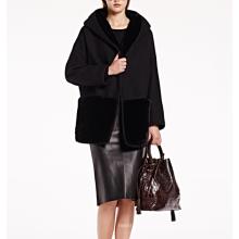 17PKCSC018 mulheres camada dupla 100% cashmere casaco de lã