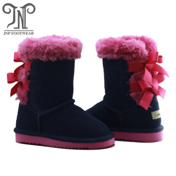Cute Kids Tall Children Navy Boots
