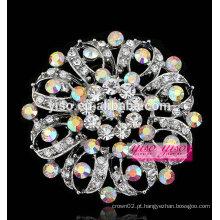 Moda única jóia de cristal AB broche de flor nobre