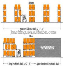 Estante de almacenamiento de carrete de cable, Estantes de metal para estantería de retroceso de calidad de tienda de 4s