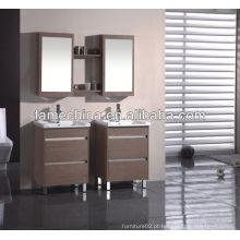 Mobiliário de banheiro MDF novo Lavatório de vidro sanitário