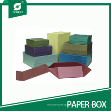 Caixa de presente de cartão magnética de fechamento liso da dobradura com preço barato