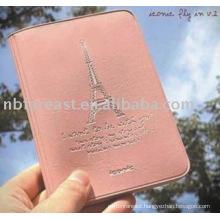 High quality pink pu&pvc passport holder, passport case, passport bag