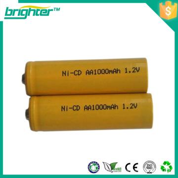 1.2v batería recargable nicd aa batería para scooters eléctricos con bajo precio