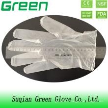 Gant de vinyle sans poudre jetable sans élimination médicale de qualité médicale